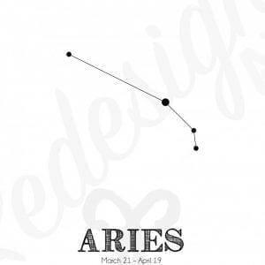 Plakat - Stjernetegn Vædder/Aries