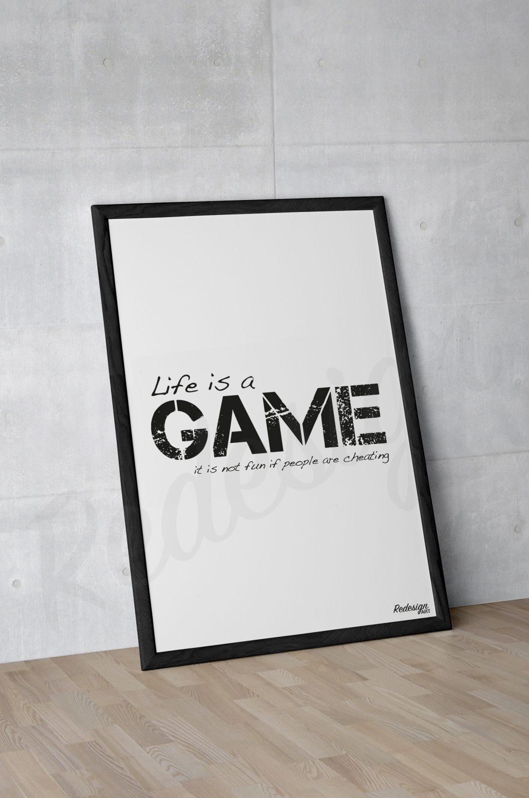 Plakat til herreværelse eller kontor med citat - Dansk design