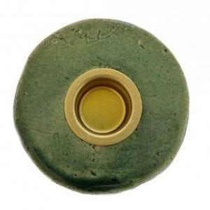 lysestage-keramik-groen-dansk-design-stentoej-handmade-bolig