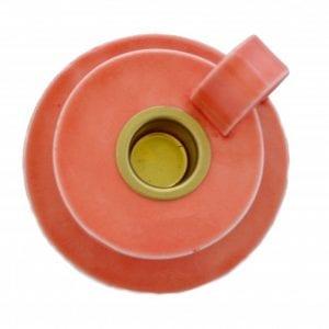 kammerstage-keramik-koral-vandmelon-moderne-dansk-design-indretning-bordpynt-handmade
