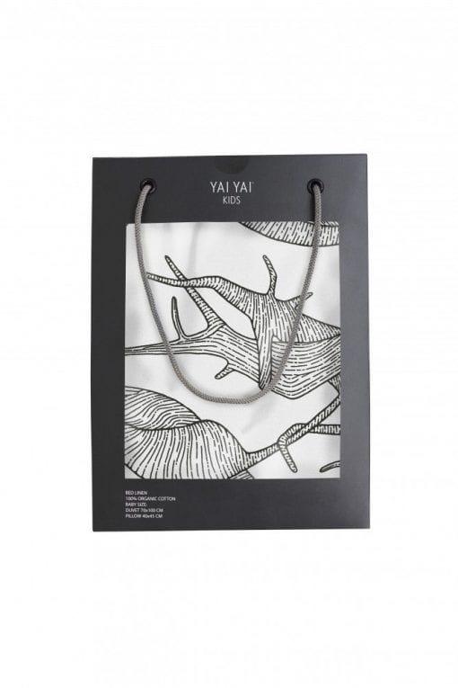 Baby Sengetøj - Root Print Gul - 70 x 100 cm