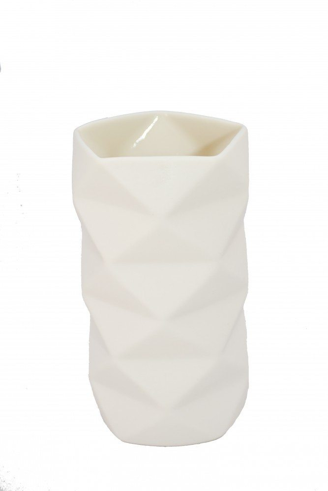 Vase Keramik Råhvid - Fold 13 cm