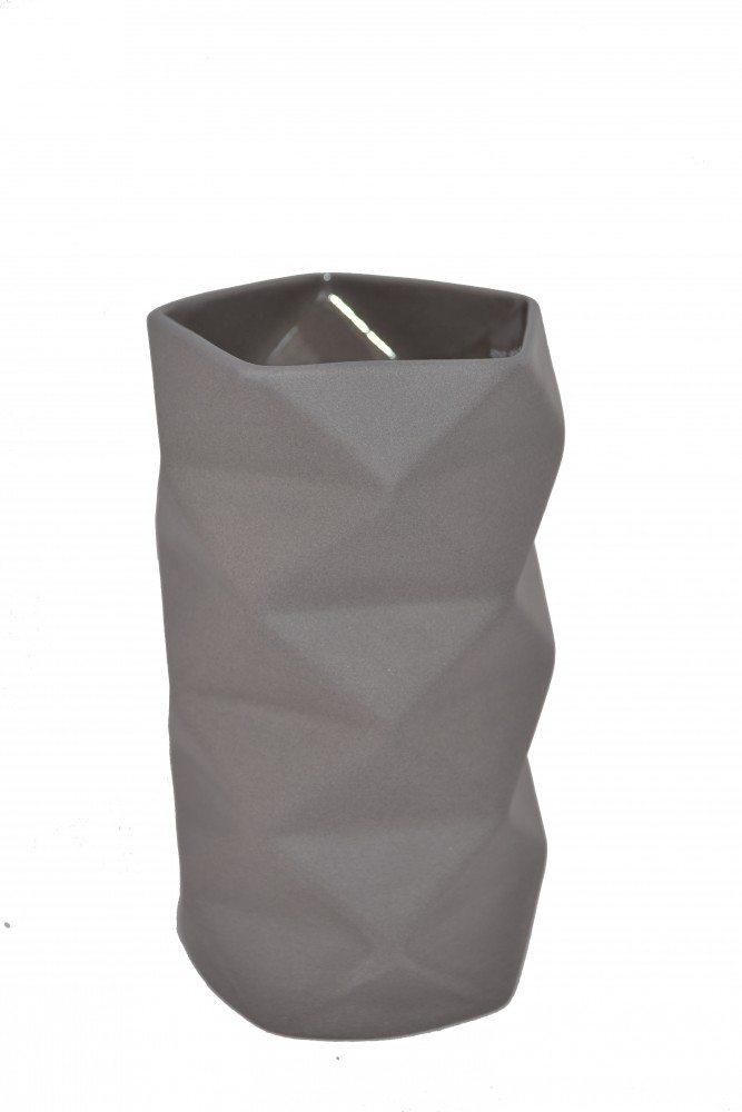 Vase Keramik Grå - Fold 13 cm
