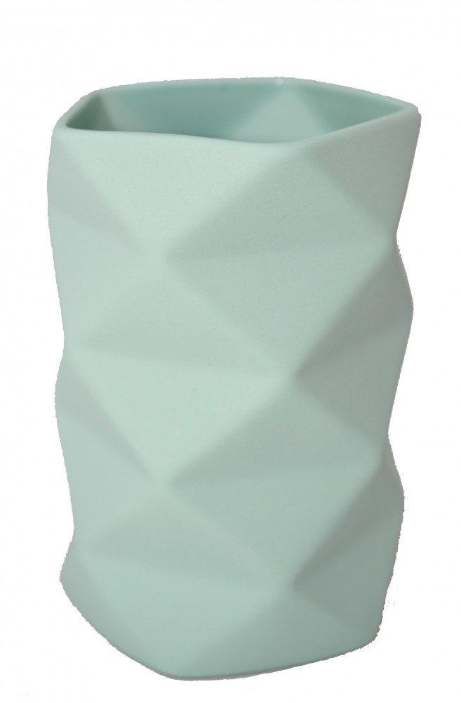 Image of   Vase Keramik Grøn - Fold 10,5 cm