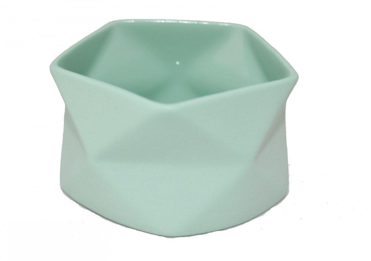 Lysestage Keramik Grøn - Fold