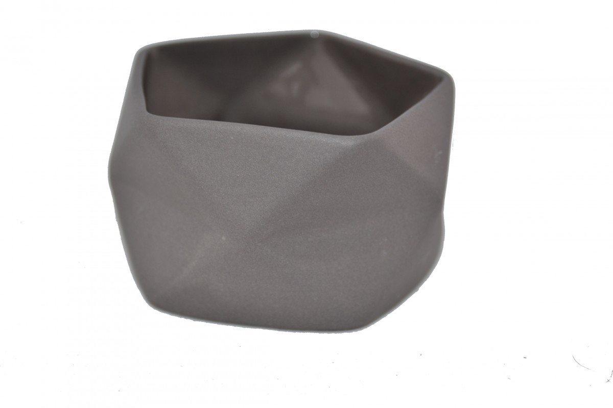 Image of   Keramik Lysestage Fold i Grå, x-small - 7 cm