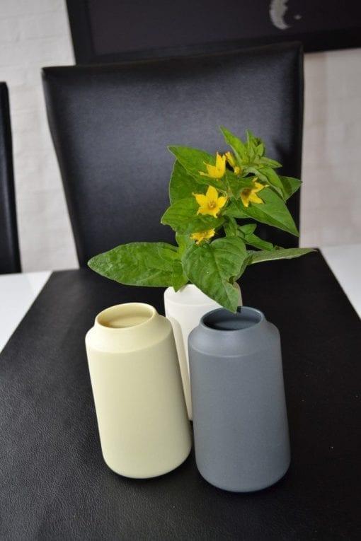Keramik Vase i Grå, Royal - 12 cm