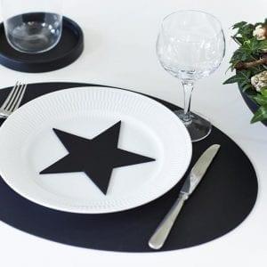 dekoration, stjerne, julepynt, sort indretning, bordpynt, vinduespynt, sejdesign