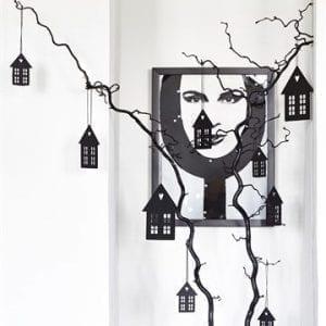 hus, dekoration, vinduespynt, julepynt, sort, indretning, sejdesign