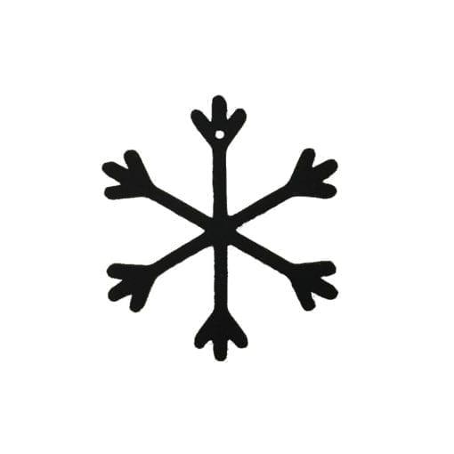 julepynt, snefnug, bordpynt, ophæng, vinduespynt, sort pynt, dekoration, indretning, sejdesign