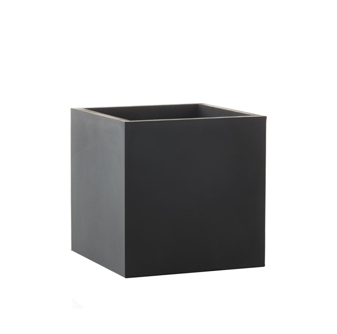 Krukke - Multi Kvadrat Medium Sort - 12 x 12 x 12 cm