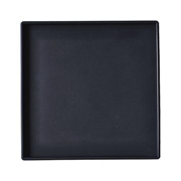Kvadratisk Bakke Large (lige kant) - Sort - 30 x 30 cm