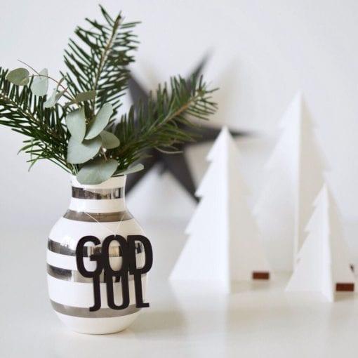 """Julepynt """"God jul"""" Sort - 2 stk"""