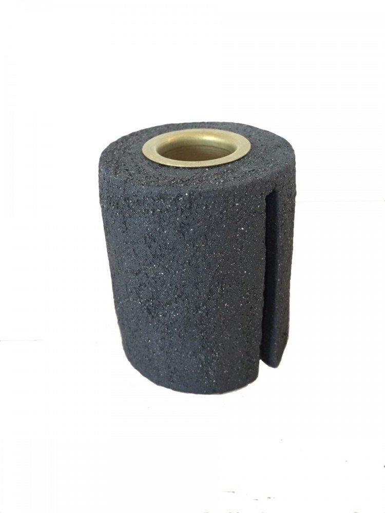 Image of   Keramik Lysestage - Grå Rustik - Høj
