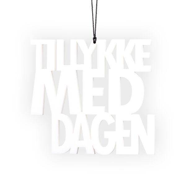 Image of   Tillykke med dagen, hvid 2 stk