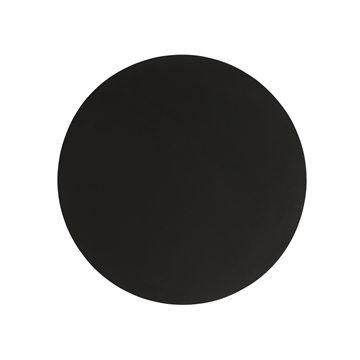 Image of   Dækkeserviet rund sort - 39 cm