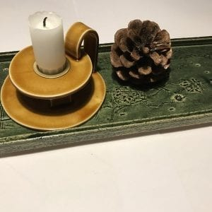 Keramik Fad - Mørkegrøn