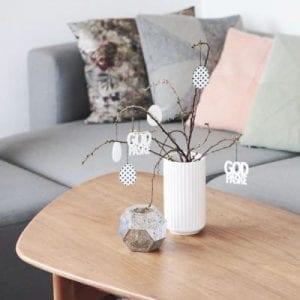 inspiration, indretning, bordpynt, paaske, paaskepynt, dansk design, felius design