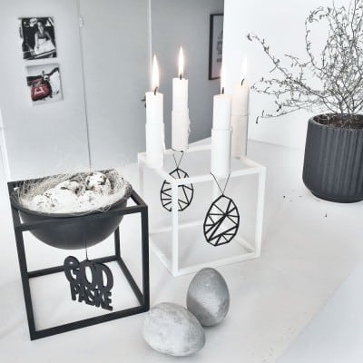 paaske, pynt, paaskepynt, god paaske, sort, indretning, bolig, fest, dansk design, felius design
