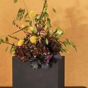 Tulipanvase sort - Multi Rektangulær - 20 x 9 x 18 cm