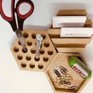 hexa dots - hexa line - hexa basic - blyantholder - smart opbevaring - mobilholder - egetrae - kontor indretning - segment denmark