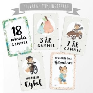 Ekstra Milestone Baby Kort - Milestenskort