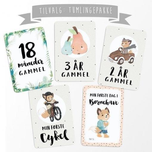 ekstra milestone baby kort - milestenskort - dansk design - neutral design - modernhouse.dk - prikogstreg
