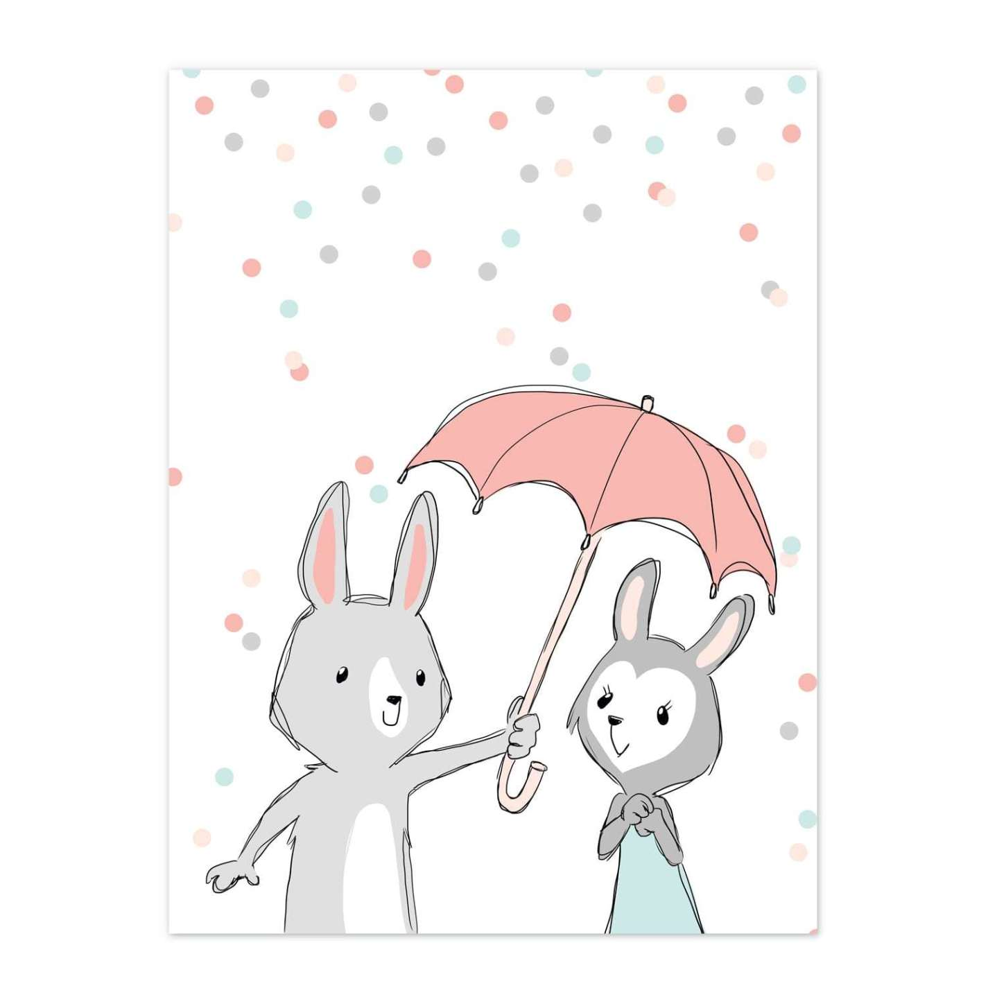 Image of   Be My Bunny Baby - Hvid Børneplakat