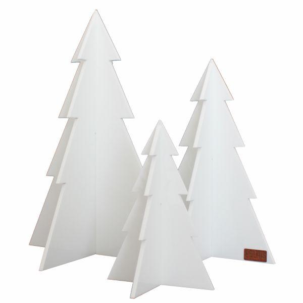 Image of   Juletræer i Hvid, sæt med 3 stk