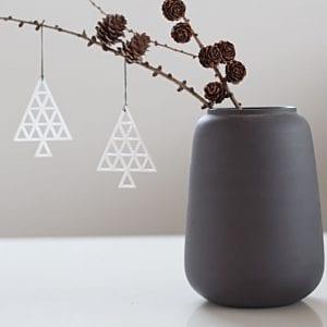 hvid juletrae - julepynt - dekoration jul - interior - dansk design - felius design