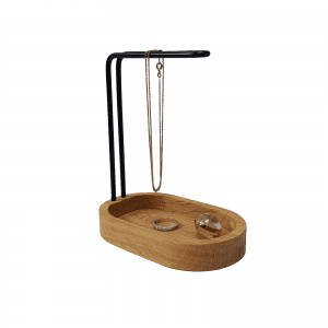 Hang-on-oak-brass-dot aarhus-danish design-jewelery holder