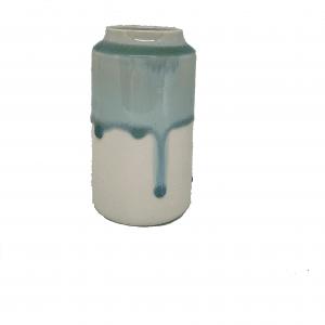 Keramik Vase Royal i Creme/Grøn - 12 cm