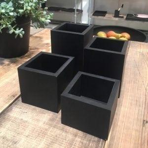 Krukke - Multi Rektangulær x-small Sort - 8 x 8 x 10 cm