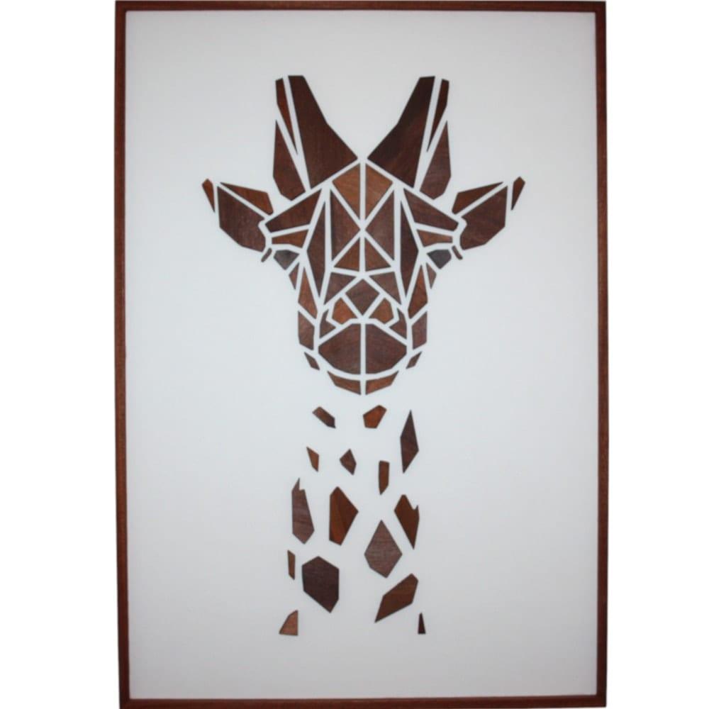 Image of   Træmotiv - Giraffen