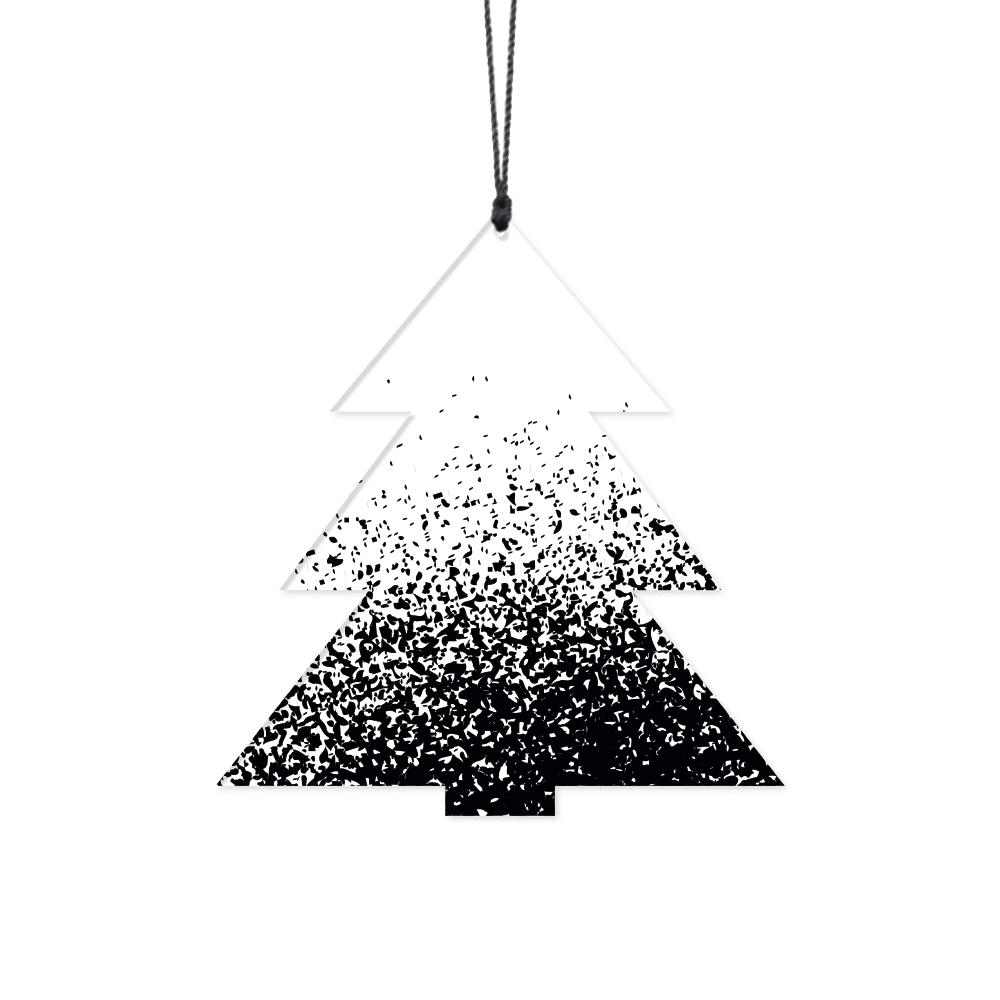"""Image of   Juletræ """"Splash"""" i Sort/Hvid - 2 stk"""
