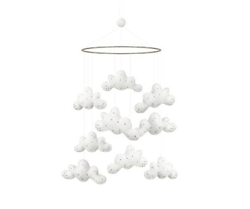 Uro Skyer - Hvid med Perler