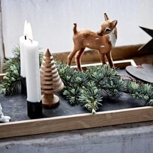 The Oak Men Bakke - Egetræ/Sort (Candle Tray)