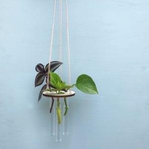 flora planteholder_groenne planter_leerbaek