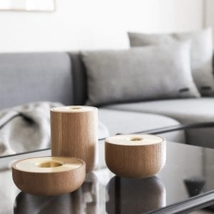 oak nordic lysestager - andersen furniture - oak nordic candle holder - louise siig