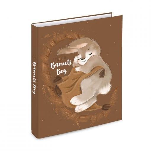 barnets bog_Ringbind_Sovende_kanin_brun - prik og streg