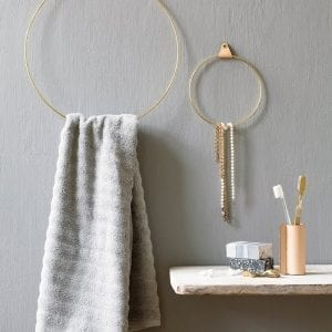 strup brass ring - messing ring - bathroom - dansk design - dekoration