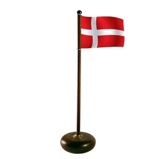 Denmark Flagpole Walnut - bordflag - aviendo - modernhouse