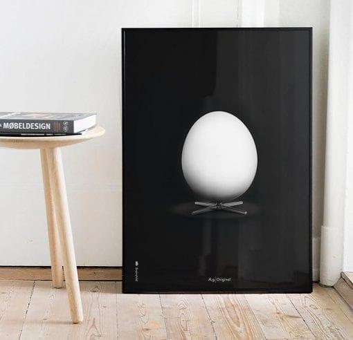 aegget-sort-dansk-design-plakat