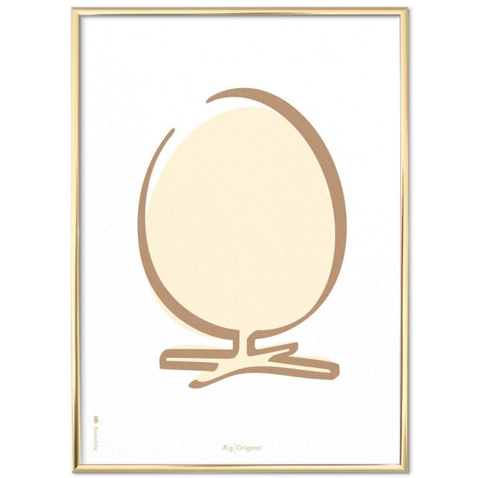 Billede af Brainchild - Plakat med Ægget - Streg - Hvid Baggrund