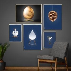 Brainchild-billedvaeg-aeg-kogle-svane-moerkeblaa-designplakater