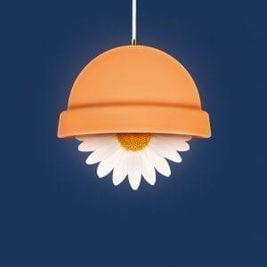 Brainchild-flowerpot-plakat-moerkeblaa