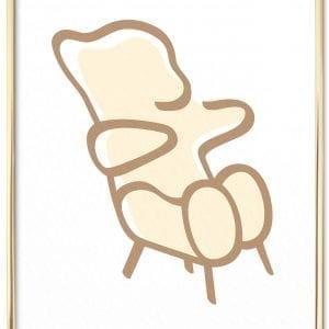 bamse-brainchild-plakat-hvid-messing-plakatramme