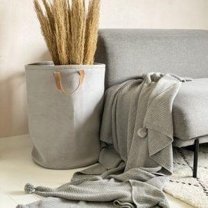 ByLOHN_plaid_stuen_indretning_strikkede interior_opbevaring