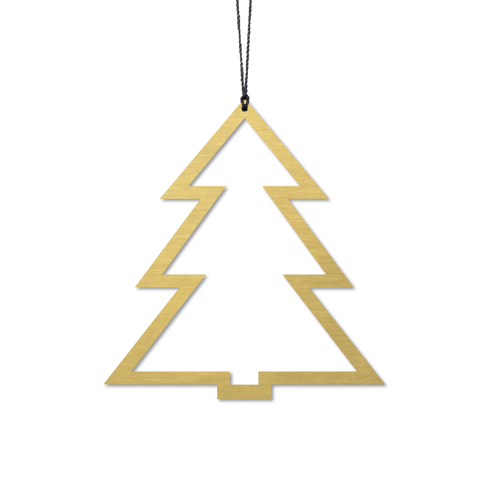 Billede af Felius Design - Juletræ, Messing - 2 stk