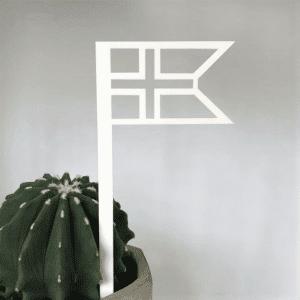 Flag_hvid_Ryborg Urban Design_flagstang_foedselsdag